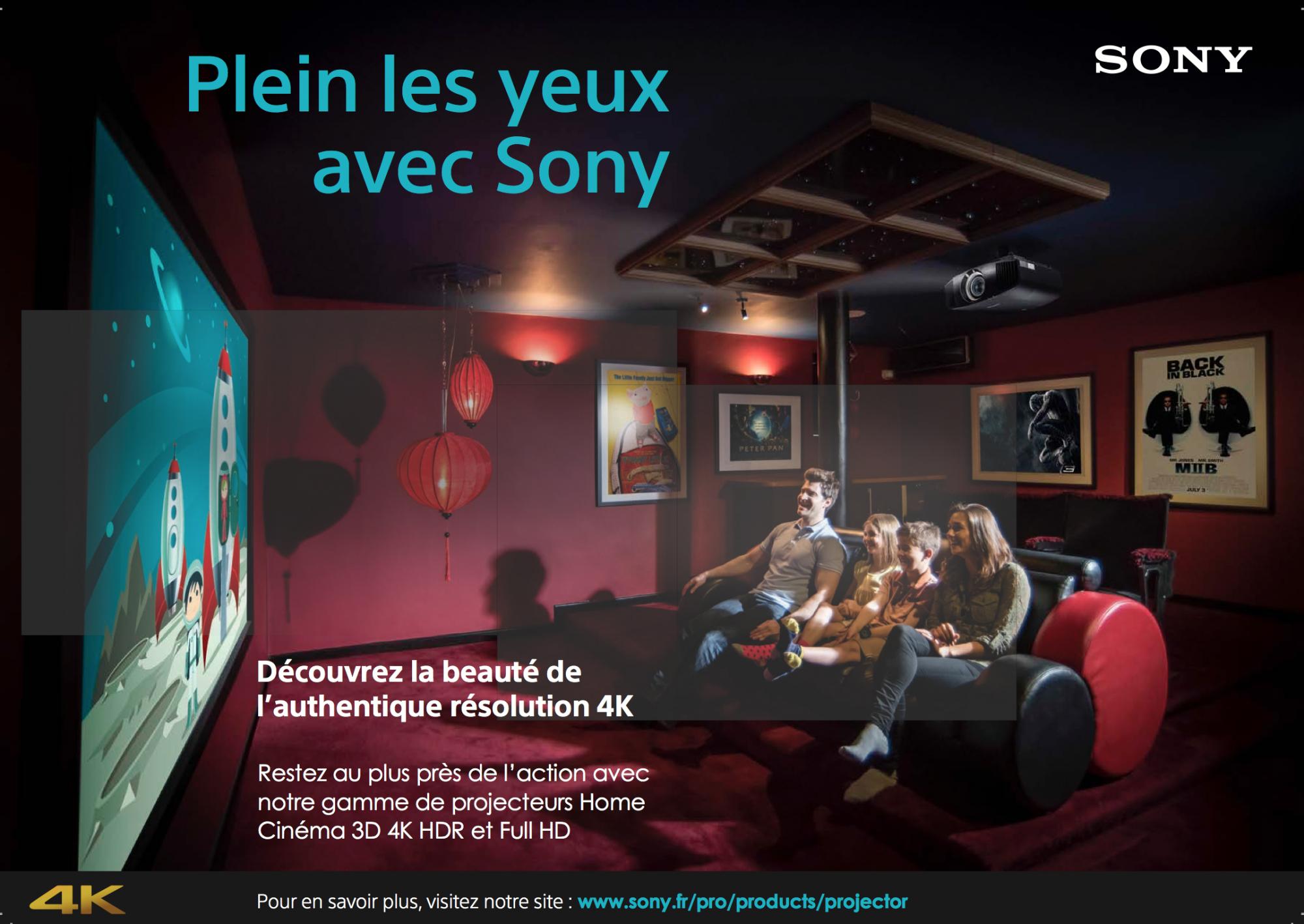 Nouveaux videoprojecteurs Sony 2016