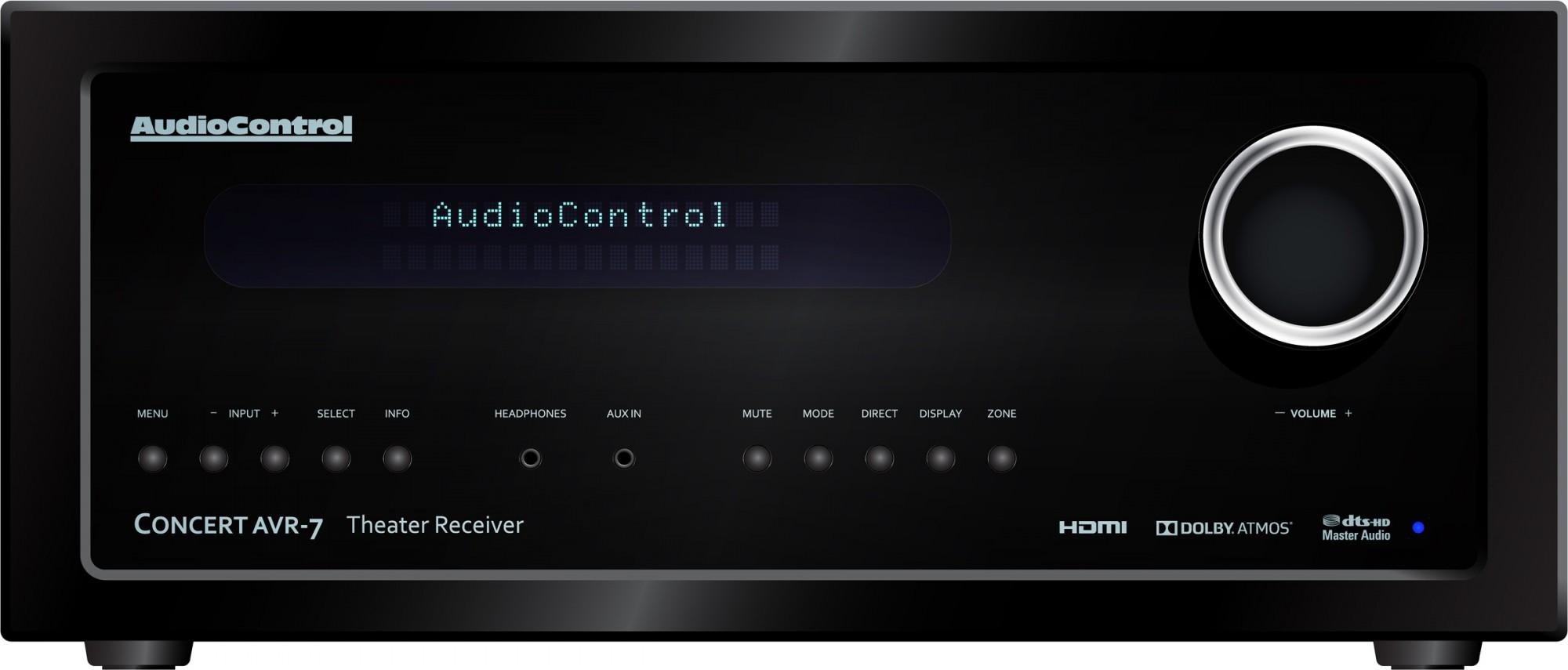 ampli home cinema Audiocontrol AVR-7 Dirac Patmos 4k à cap d'antibes