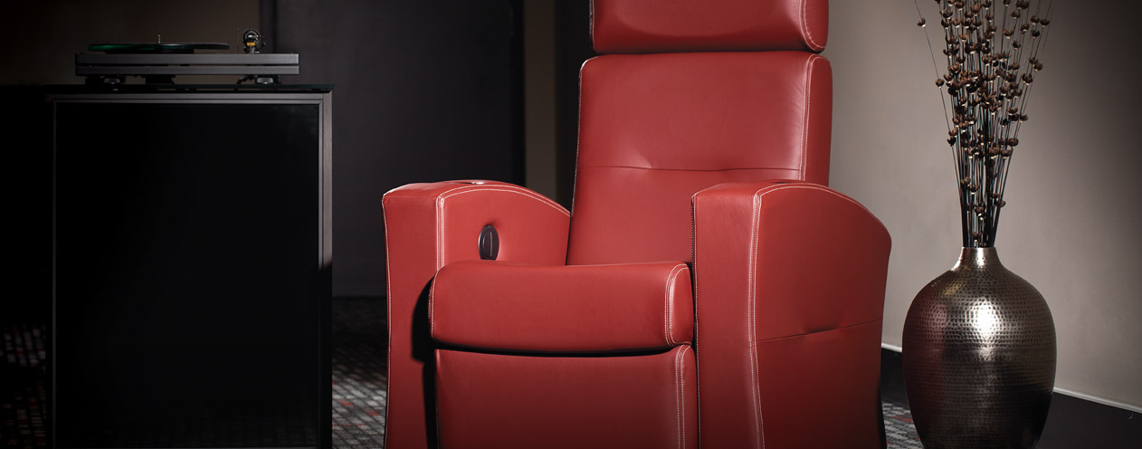 fauteuil home cinema rouge électrique à Gordes