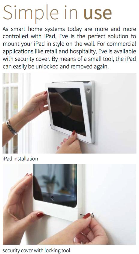 support sécurisé pour iPad
