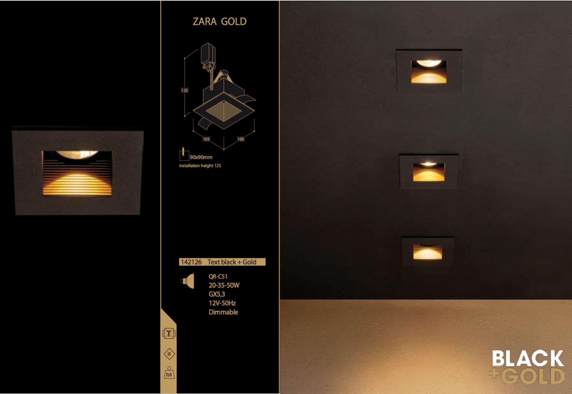 TAL noir et doré Zara Gold