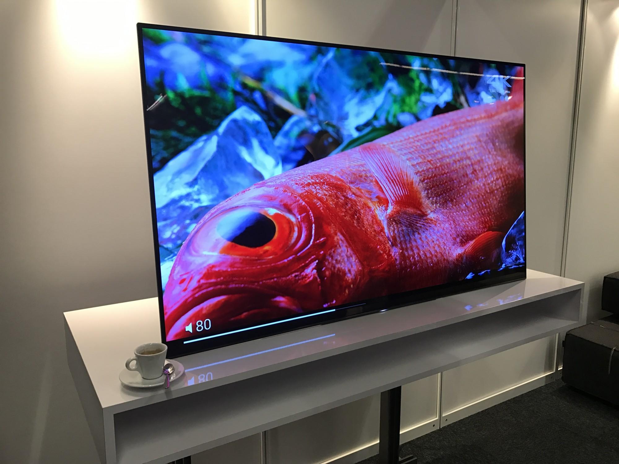 Nouveau Sony OLED avec haut parleur intégré à la dalle avant ISE amsterdam 2017
