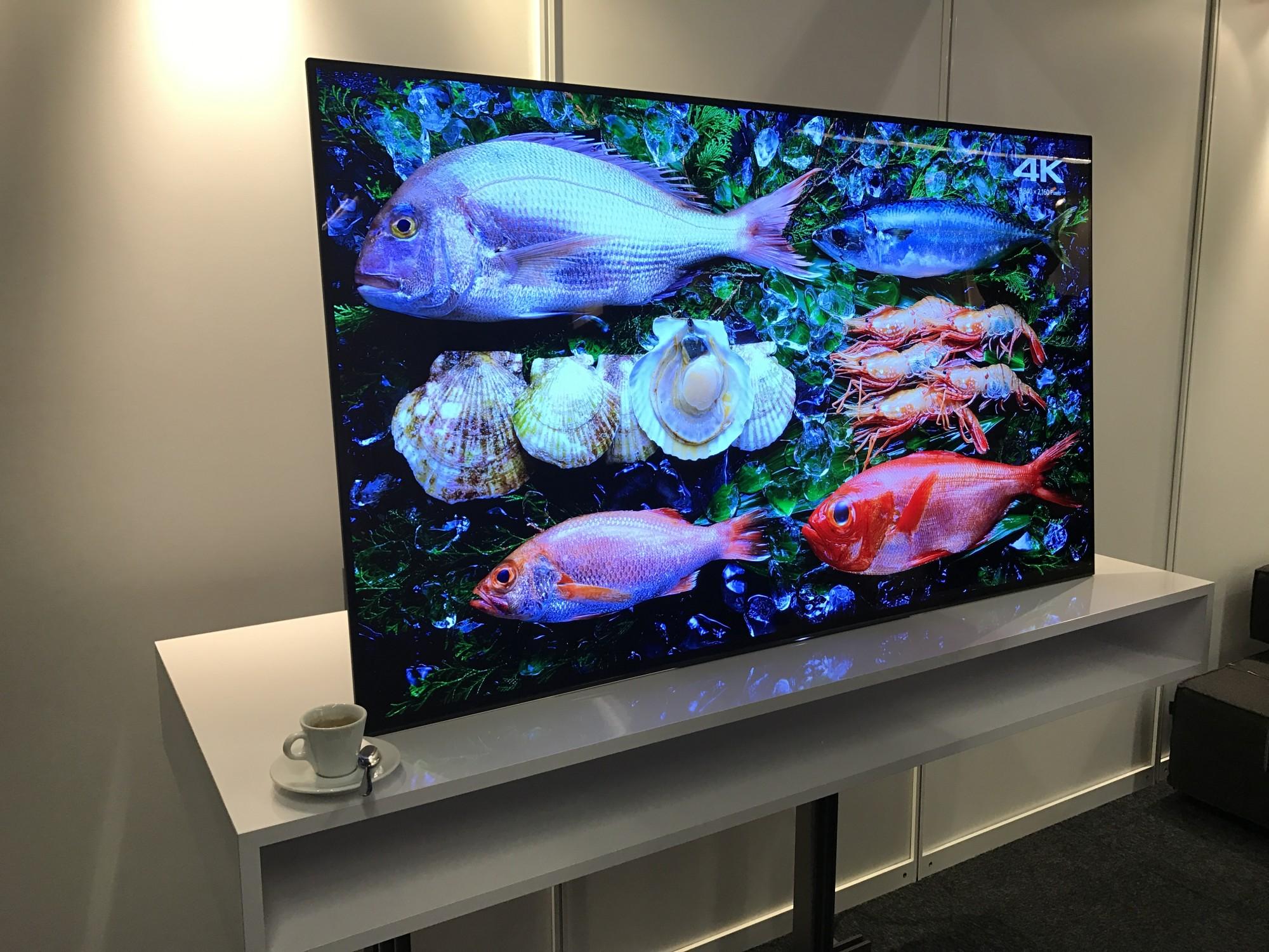 TV OLED avec son qui sort par la dalle bouche du rhone