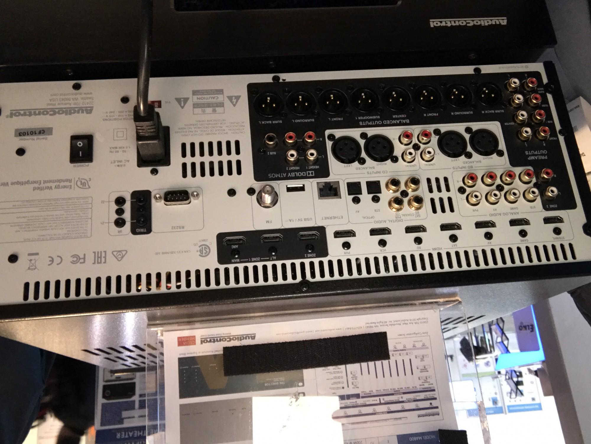 Preampli processeur Home Cinema Audiocontrol M9 ATMOS