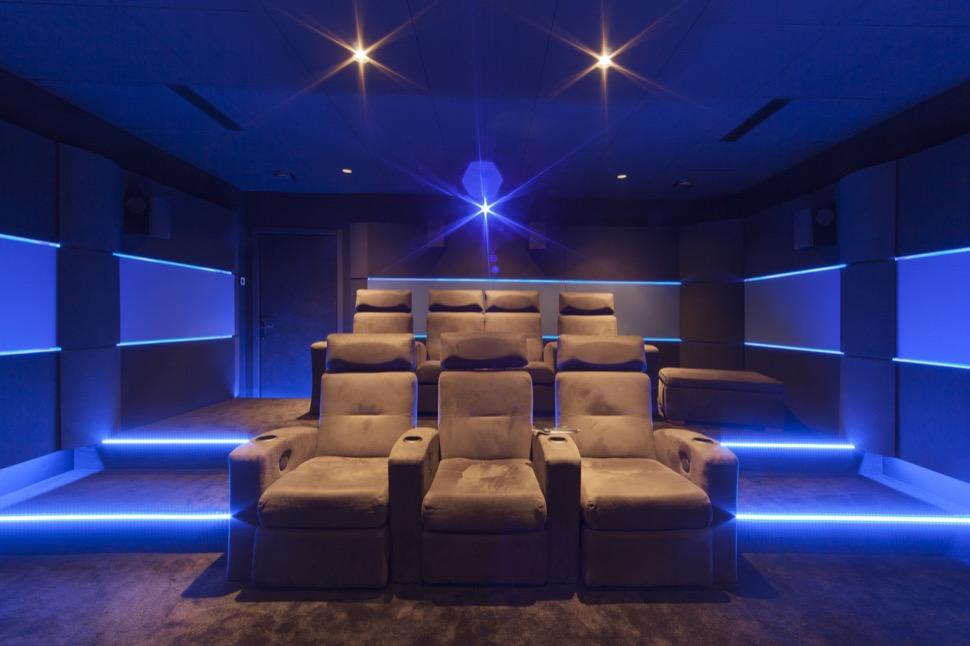Realisation D Une Salle De Cinema Privee A Aix En Provence