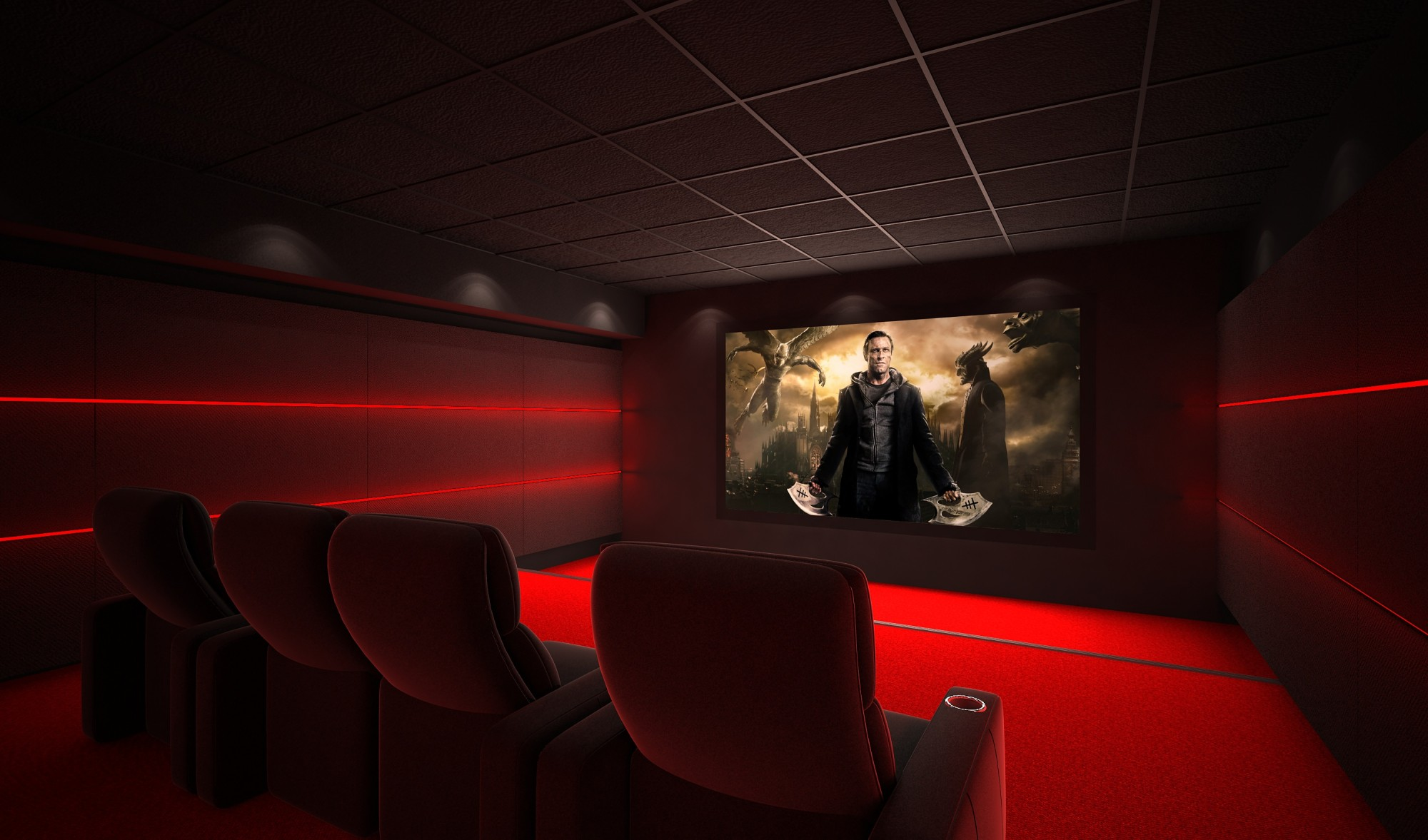 calibrer une salle de home cinema priv e en r gion parisienne paris a dynamic home cinema. Black Bedroom Furniture Sets. Home Design Ideas