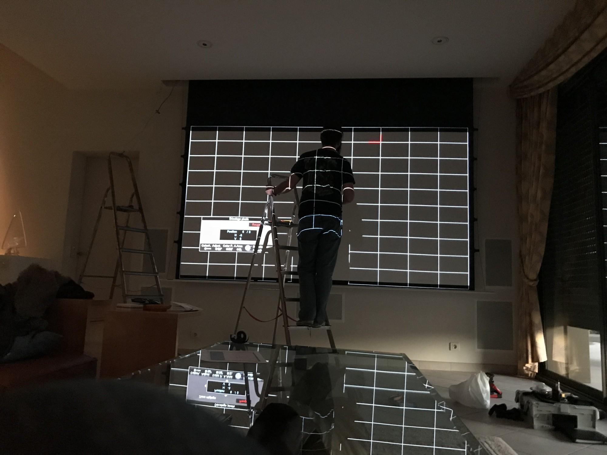 alignement matrice videoprojecteur JVC DLA dans les bouches du Rhône